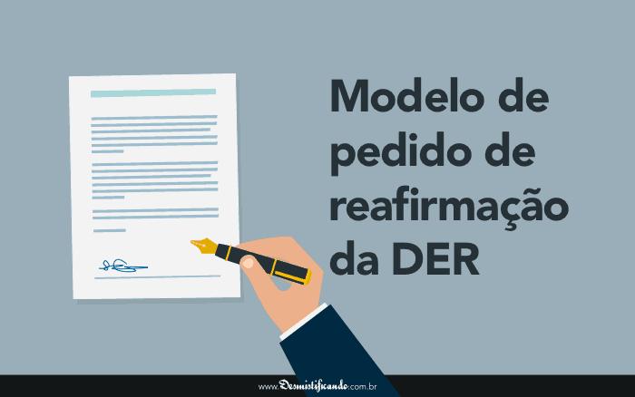 Modelo Genérico de Pedido de Reafirmação da DER (judicial)