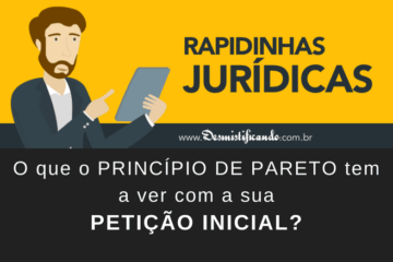 Princípio de Pareto e Petição Inicial
