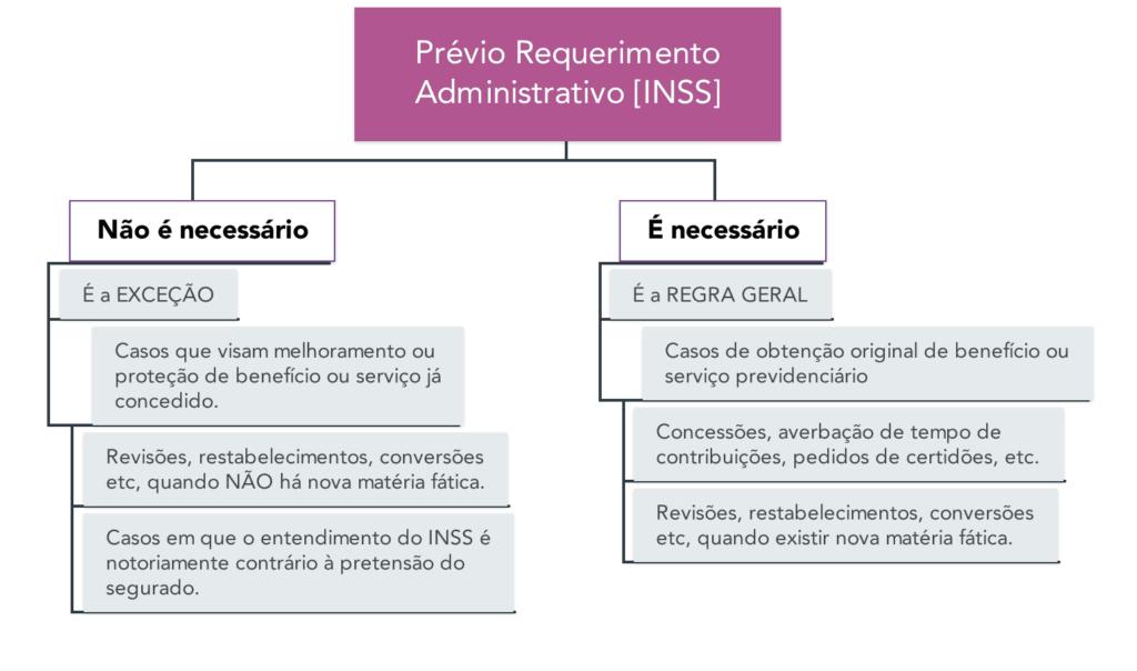 Prévio Requerimento Administrativo - Mapa Mental com Resumo